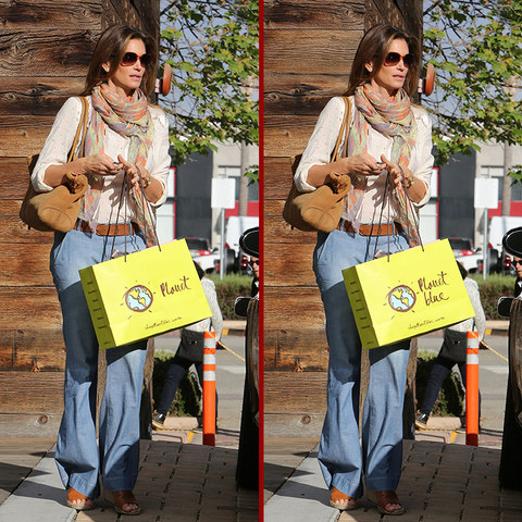 Can you spot the THREE differences in the Cindy Crawford photos?