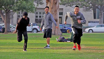 Jeremy Lin -- Foot Race With Homeless Guy ... Wins