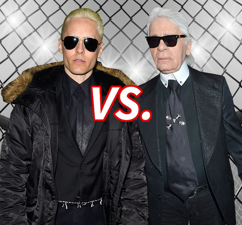 Blonde on Blonde! Jared Leto (43) vs. Karl Lagerfeld (81)