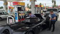 NASCAR's Joey Logano -- Cruisin' L.A. in Batmobile ... With Jeff Dunham