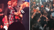 Plies -- Violence Erupts after Rapper Violently Thrown Off Stage ... By a Fan! (VIDEO)