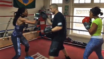 Brandy -- Boxing with Angela Simmons ... Check Out This Hook