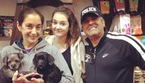 Erik Estrada -- Ponch Pulls Puppies At Shelter