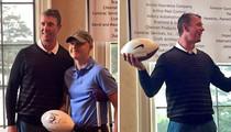 Matt Ryan -- Dominates Golf Tourney ... Wins Football Signed By Himself