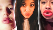 Kylie Jenner -- Fat Lip Challenge Really Sucks (TMZ TV)