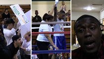 Justin Bieber -- Ringside for BFF's Boxing Debut ... Lil Za Wins!!!!