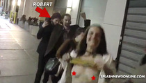 Robert Pattinson -- Friend Flashes Boobie Decoy ... Photogs Forced to Choose