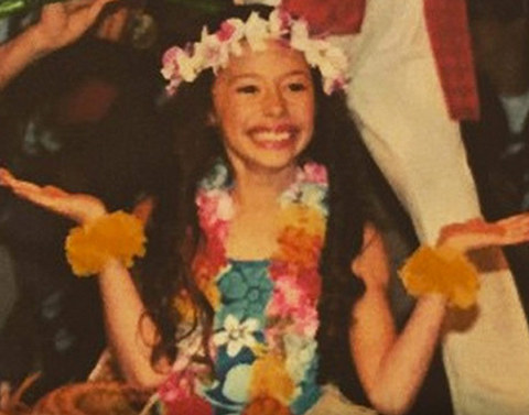 Before this smiling little lady was doing the Hollywood hula she was just another kid kid sharing the alohas spirit in Thibodaux, Louisiana.
