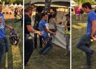 Miles Teller --  Gets Footloose at Music Fest ... Dancing with Himself (VIDEO)