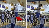Trinidad James -- INSANE DUNK PROP ... At Celeb Hoops Event
