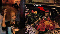 Rihanna -- Clubbing With Karim Benzema ... Soccer Star Drops $$$ On Roses