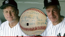 Mickey Mantle -- DiMaggio's a 'F**ker' Baseball ... Sells for $12k
