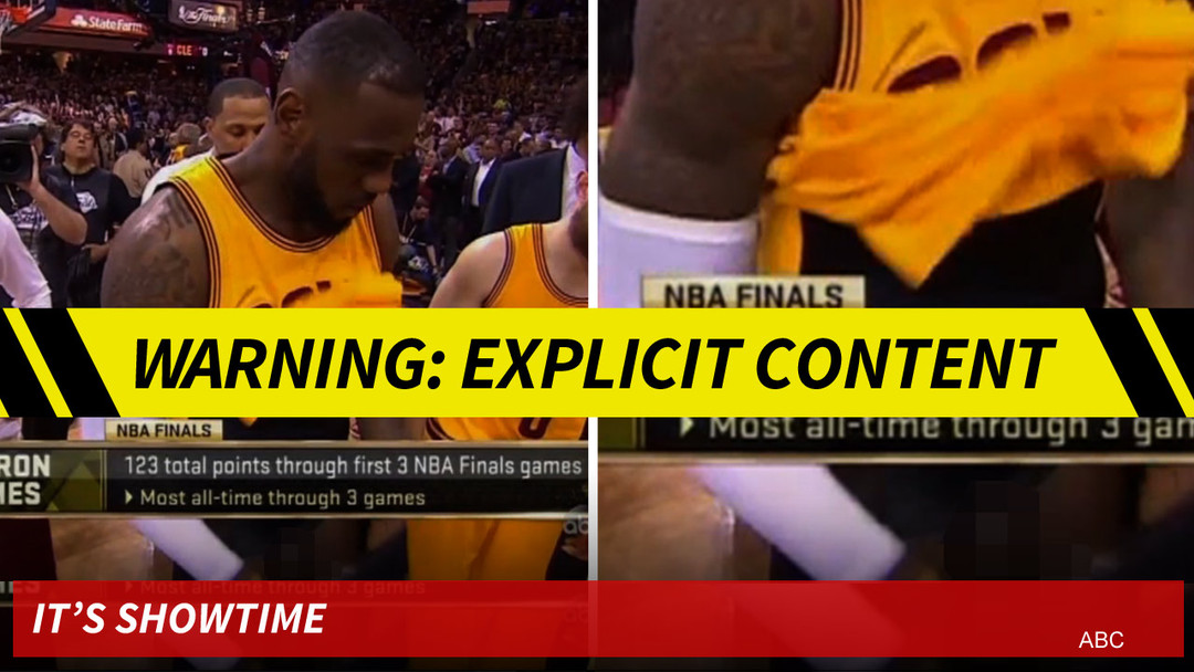 0388b5c209db5 LeBron James -- Royal Penis Exposed ... During NBA Finals