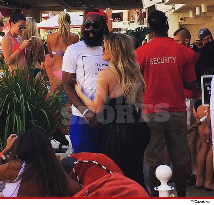 afe6728781e Khloe Kardashian   James Harden -- Getting Handsy In Sin City (PHOTO ...