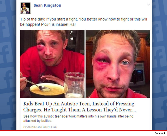 Some Kids Really Do Beat Autism And >> Sean Kingston Tip Of The Day Don T Pick On Autistic Kids