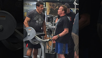 Lou Ferrigno & Arnold Schwarzenegger -- When Hulk Met Conan (PHOTO)