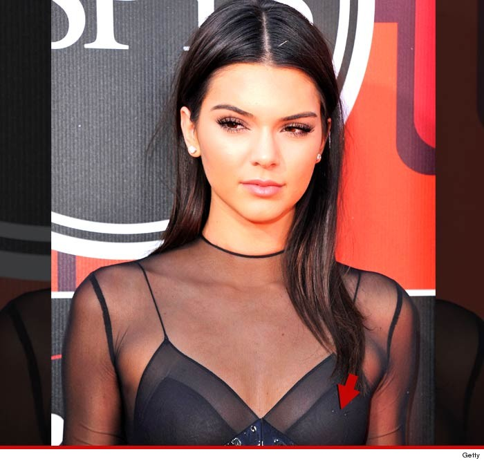 Kendall Jenner -- I Got A New Accessory  Nipple Ring -4881