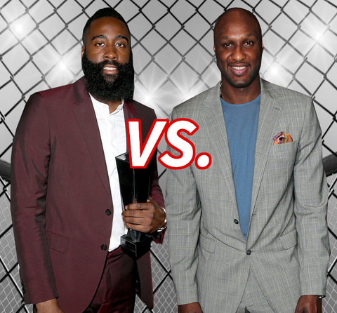 Who's in love with the Khlo-Khlo? James Harden (25) vs. Lamar Odom (35)