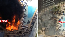 Cosmo Hotel -- Pool Goes Up In Flames Before Willie Nelson Concert