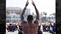 LeBron James -- Yoga Master ... Says College BBall Star