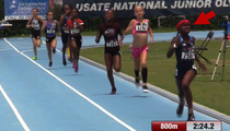 Chad Johnson's Daughter -- Destroys JR Olympics ... Wins Gold Medal In 800m