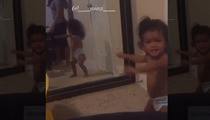 Chris Brown -- Little Royalty Busts A Move ... Just Like Me (VIDEO)