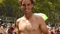 Rafael Nadal Plays Strip Tennis -- See Him Lose His Shirt!