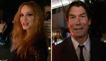 Christina Hendricks & Jerry O'Connell-- Hollywood's Pullin For Hamm At Emmy Awards