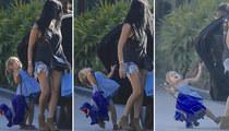 Kourtney Kardashian -- Toddler Down!! Car Door Hits Penelope (PHOTOS)