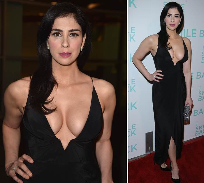 sarah silverman s cleavage is no laughing matter tmz com