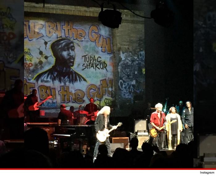 Tupac All Eyez On Keith Richards ... At Harlem Gig