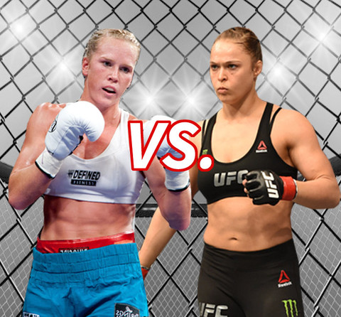Holly Holm (34) vs. Ronda Rousey (28) Who's the bigger knockout?