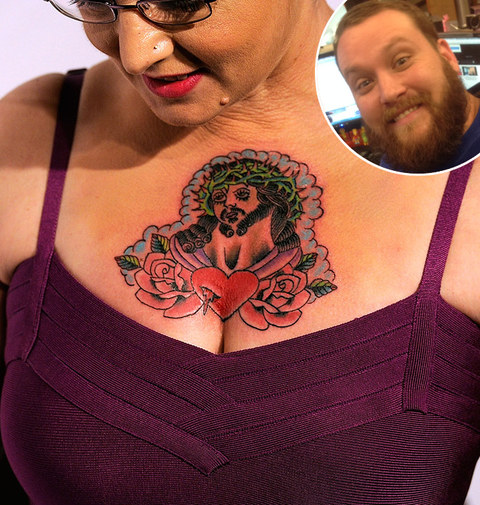 Jeff: Sinead O'Connor's chest tattoo