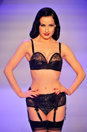 Dita Von Teese in Sexy Black Lace -- Happy Black Friday!