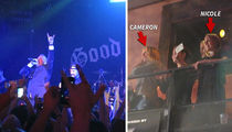 Cameron Diaz and Nicole Richie -- Banger Sisters at Good Charlotte Concert (VIDEO)
