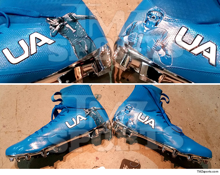 3e1a9fa1b8bd Cam Newton could deliver an epic SCREW YOU to all his anti-dabbing critics  -- 'cause he's got a pair of custom cleats coming his way for his  Thanksgiving ...