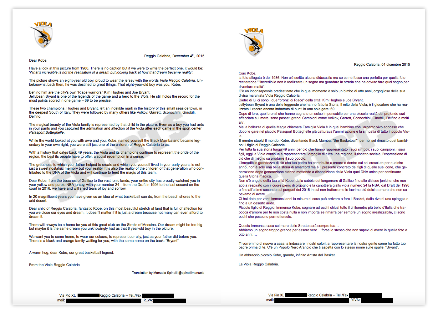 a7b68a491ac4 The team got word that Kobe has been kicking around the idea of playing  overseas -- and reached out through an open letter ...