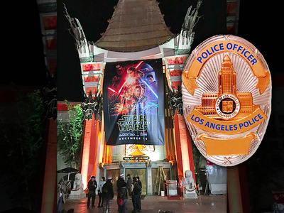 'Star Wars' Premiere -- Security Force Awakens ... Random Searches in Hollywood