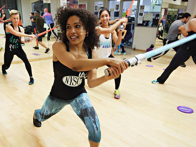 Get Fit With The Force -- See the New Lightsaber Workout