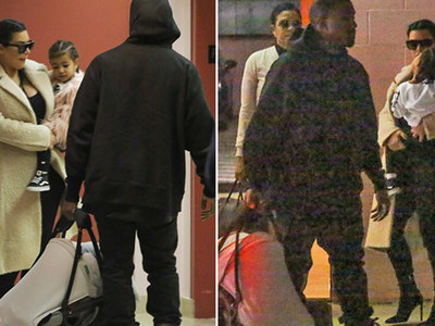 Kim Kardashian & Kanye West -- First Public Shot of Saint West ... Time for a Checkup