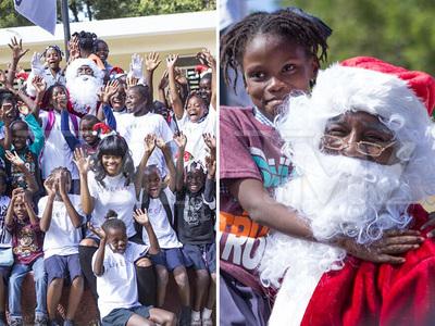 Lil Wayne & Andre Berto -- Spreadin' Holiday Cheer In Haiti