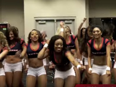 Houston Texans Cheerleaders -- Sexiest Locker Room Celebration EVER (VIDEO)