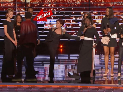 People's Choice Awards -- Stage Crasher Gets Ass-Kicking from Sharon Osbourne (VIDEO)
