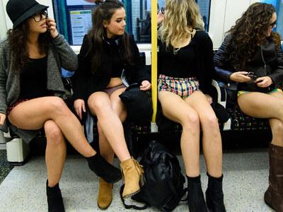 No Pants Subway Ride Day -- All Aboard the Skivvy Pics