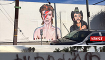 David Bowie -- Street Art Tributes Popping Up ... For Lemmy Too (PHOTOS)