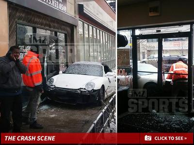 Lance Briggs -- NFL Star's Porsche Crashes Into Bartender School