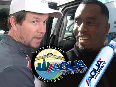 Mark Wahlberg & Diddy -- Water Heroes to the Rescue In Flint