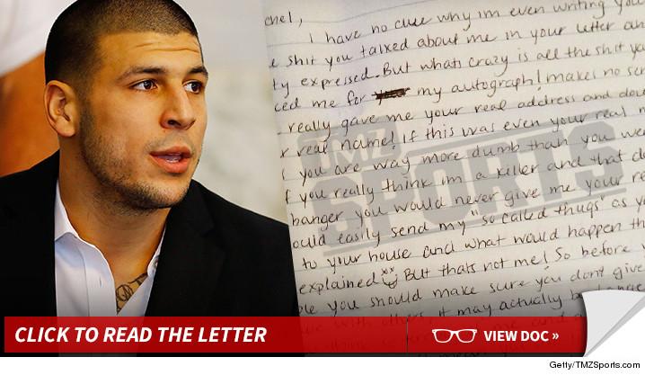 aaron hernandez prison letter: praises tom brady  blasts robert