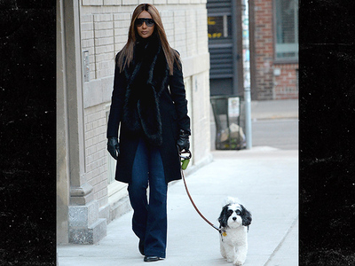 Iman -- Back Walkin' the Dog After Bowie's Death (PHOTO)