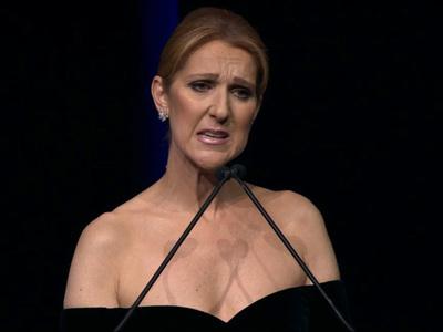 Celine Dion -- Tearful Memorial ... I Still Feel Rene's Strength